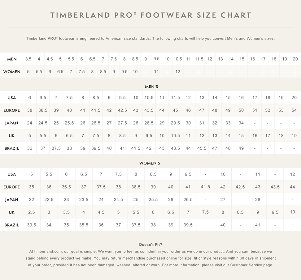 Size Chart Shoe Boys To Men